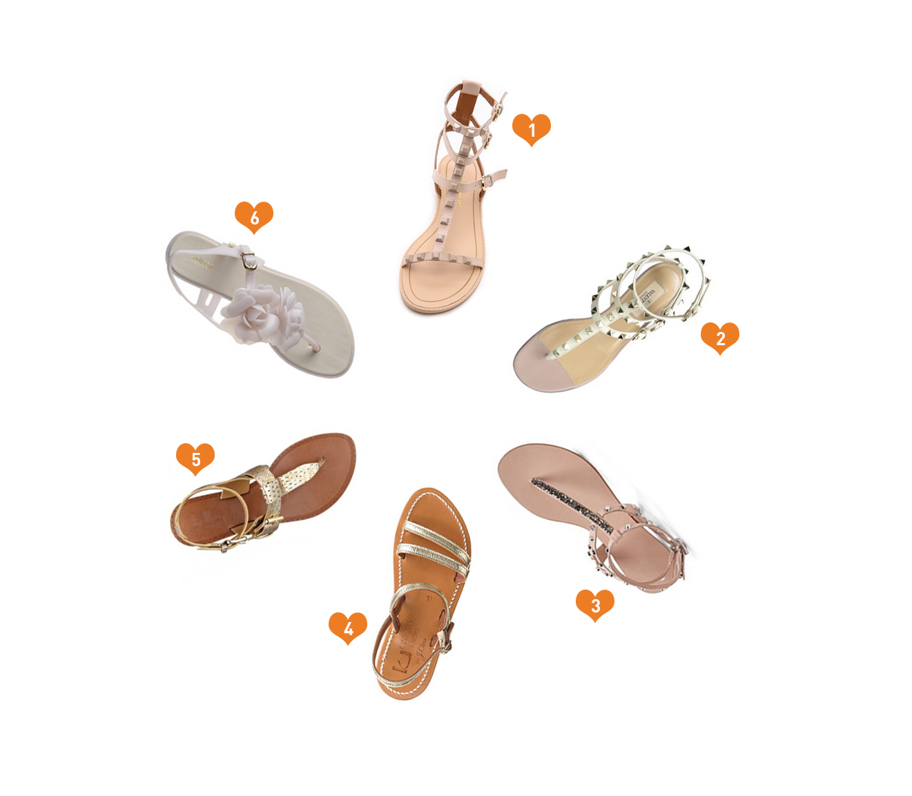Neutral Colored Sandals