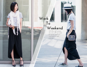 work to weekend look